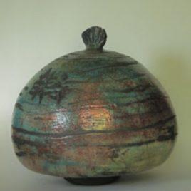 Boîte raku turquoise